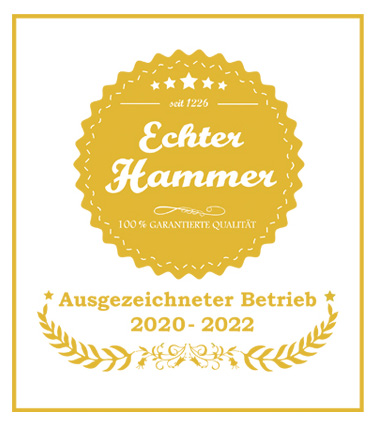Auszeichnung Echter Hammer - Ihr Ambulanter Pflegedienst Harmonie GmbH in Hamm.